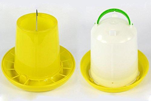 Geflügeltränke 7,5 Liter und Futterautomat 3kg Tränke Futterspender Stülptränke Huhn Hühner Geflügel Wachteln