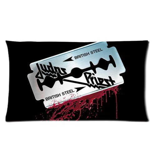 Custom Cotton & Polyester Soft Rectangle Pillow Case Cover 20X36 (Two Side) - British Heavy Metal Hard Rock Band Judas Priest Logo Dot Blood Personalized Pillowcase