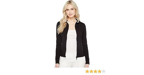 Ivanka Trump Womens Zipped Jacket Black//Blush M Ivanka Trump Women/'s Outerwear W72JA160