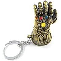RJM Sales & Service Avengers Infinity War 3 New Series Thanos Gauntlet Power Stone Marvel Brown Colour Metal Keychain for Men and Women