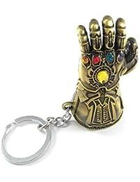 RJM Avengers Infinity War -3 New Series Thanos Gauntlet Power Stone Marvel Brown Colour Metal Keychain | Key Ring for Car Bike Home Keys | Key Chain for Kids Men Women Boys Girls