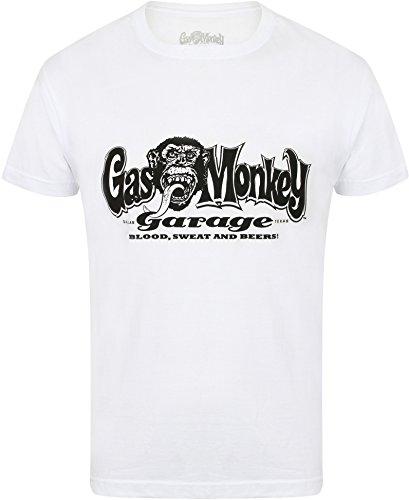 Gas Monkey Garage T-Shirt OG Logo, Farbe:white, Größe:2XL - Farbe Logo-t-shirt