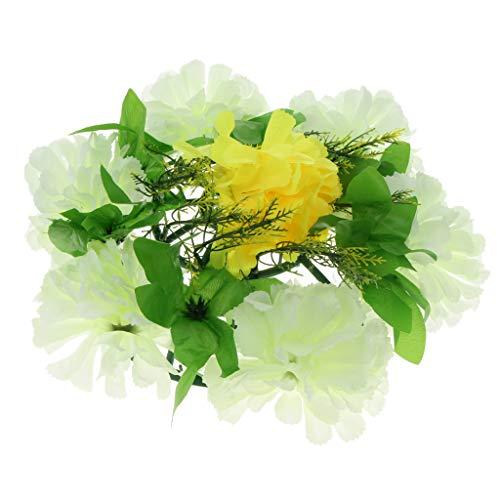 D DOLITY Grabschmuck Grabgesteck Grabblumen Allerheiligen für Trauer und Gedenken Zum Freunde und Verwandter, Farbwahl