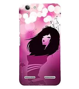 Pink Love Fashion Girl 3D Hard Polycarbonate Designer Back Case Cover for Lenovo Vibe K5 Plus :: Lenovo Vibe K5+