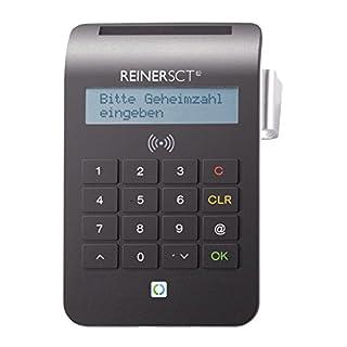 REINER SCT cyberJack RFID Chip-Kartenlesegerät komfort   Multi-Applikationsfähig für z.B. Elster; Online-Banking; Personalausweis)