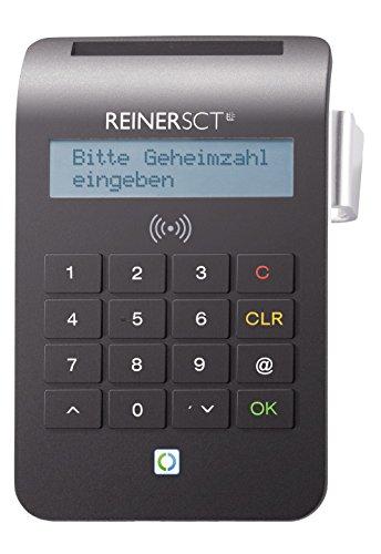 REINER SCT cyberJack RFID Chip-Kartenlesegerät komfort | Multi-Applikationsfähig für z.B. Elster; Online-Banking; Personalausweis) -