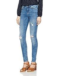 VERO MODA Damen Jeanshose Vmseven Nw Super Slim Jeans Bay