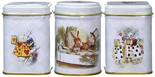 New English Teas Alice's Adventures in Wonderland Triple Mini Tin Gift Pack 70 g