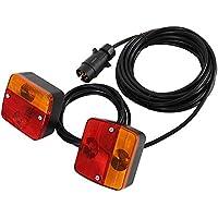 Tropicaleu 2pcs Luces Traseros LED de Remolque Lámparas de Señal Magnéticas 12V de Freno Indicador para