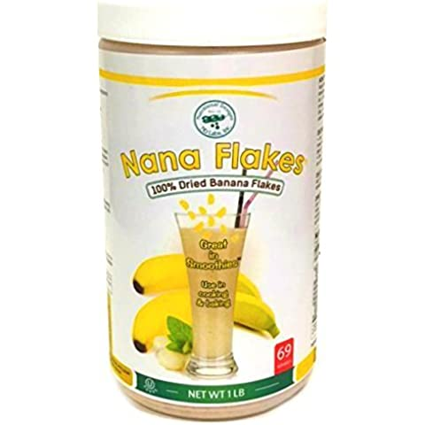 Nana Flakes 100% Pure Banana Flakes Banana Medical Food Powder (1 Pound) by Nutritional Designs - 1 Lb Banana
