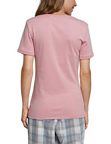 Schiesser Mix & Relax Shirt 1/2 Arm, Haut de Pyjama Femme Rot (Sorbet 524)