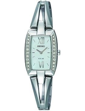 Seiko Damen-Armbanduhr XS Damenuhren Analog Quarz Edelstahl SUP083P1