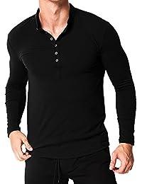 bcc6980fd9 Amazon.it: maglia con bottoni - Uomo: Abbigliamento