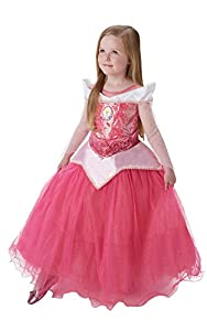Princesas Disney - Disfraz de Bella Durmiente Premium para niña, infantil 5-6 años (Rubie