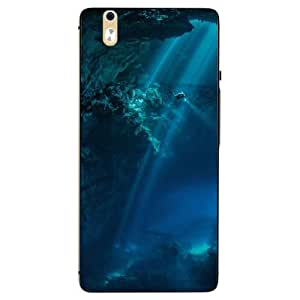 Case Cover Sea Printed Blue Hard Back Cover For InFocus M810