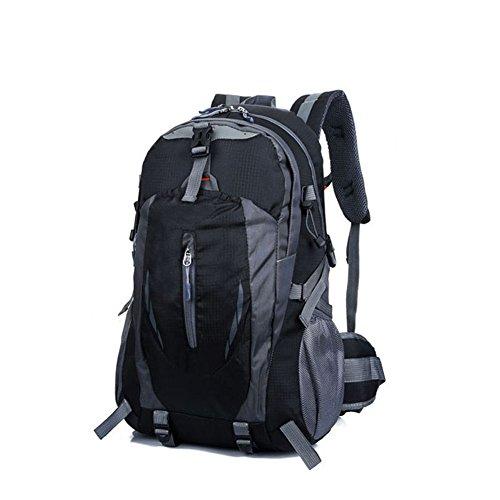 Hrph New Fashion Outdoor Sport Nylon Rucksäcke Frauen MenTravel Rucksack Bergsteigen Wandern Taschen Black