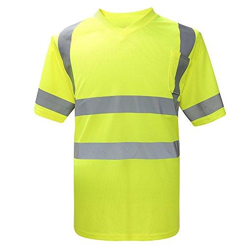 Preisvergleich Produktbild AYKRM Hi Viz Arbeit Tragen Sicherheits T-Shirts Warnschutzkleidung - gelb - Größe: XL