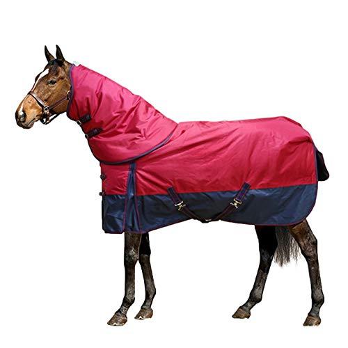 GSELL-HF Pferde Standard-Neck Stalldecke-2500D Oxford, Plus-Baumwolle Nach Innen, Kalt Und Warm, Geeignet Für Den Winter,5XL