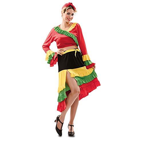Lady Spanien Kostüm - Prezer Rumba Lady Olivia Kleid Kostüm M/L