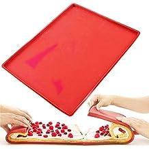 Fyuan Silicona Swiss Roll Mat Multifuncional Antiadherente Torta de La Hornada de Pizza Pasteles Pad Bandeja