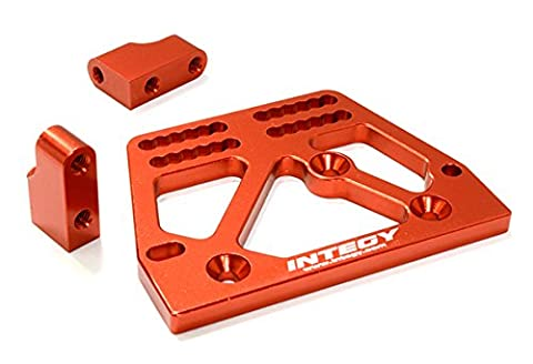 Integy Hobby RC Model C26707RED Billet Machined Alloy Servo Mount Set for Axial 1/10 SCX-10 Scale Crawler