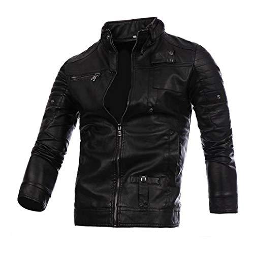 Perfecto Marron en Similicuir Homme,Overdose Veste Motard Hiver Casual Jacket Blouson Outwear Coa