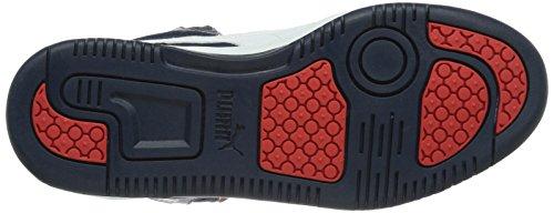 Puma - Puma Rebound v2 Hi Jr, Sneakers Blu (Peacoat/Bianco/High Risk Red)