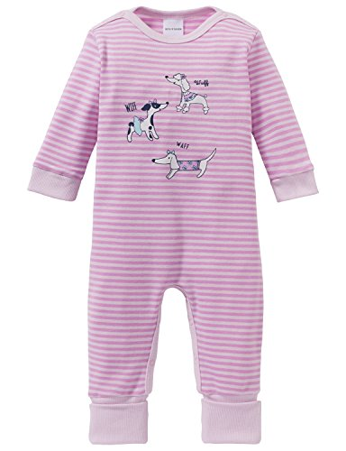 Schiesser Mädchen Zweiteiliger Schlafanzug Puppy Love Baby Anzug mit Vario Fuß, Rot (Rosa 503), 80