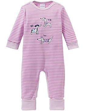 Schiesser Mädchen Zweiteiliger Schlafanzug Puppy Love Baby Anzug mit Vario Fuß