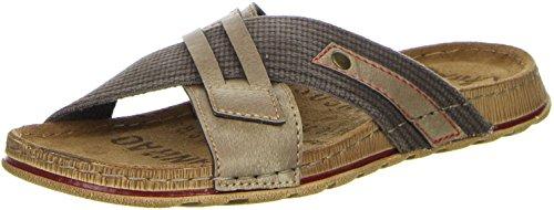 Vista Herren Pantoletten braun, Größe:43, Farbe:Braun (Aus Sandalen Für Größe Leder 15 Männer)