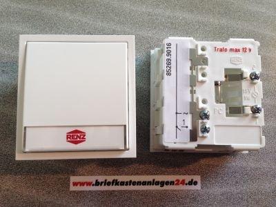 RENZ Tastenmodul mit 1 Klingeltaster weiß RENZ Nummer 97-9-85269