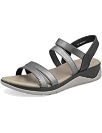 tresmode Women's Savannah Matte Gold Casual Mules Strap Sandals