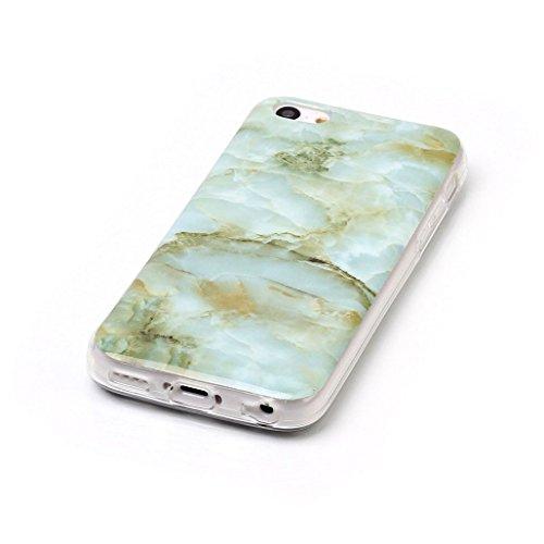 XiDe iPhone 6 Hülle iPhone 6S Hülle Marmor Textur Muster TPU Silikonhülle Softcase Back Cover Tasche Schutzhülle Anti-Scratch Telefon-Kasten Handyhülle Handycover Euit - Rauch Weiß Jadegrün
