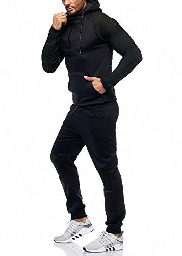 Herren Jogging-Anzug Polo Club Design, (S-Slim, Khaki Neu)
