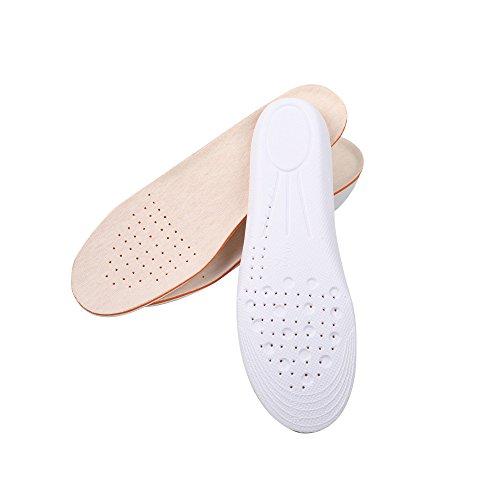 Soumit® Comfort Morbido Traspirante Sudore-Assorbente Massaggi Albicocca PU Fibra Aumento Altezza Sottopiede per Adulto, Sport (2 2.5 Ascensore)