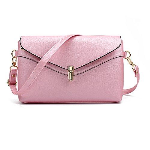 neue frau pack umhängetasche mode einfach frauen, kleine lady messenger tasche lässig mädchen tasche saniert Pink