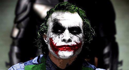 Kein Rahmen Starry Night Joker Ölgemälde Abstrakt Druck auf Wasserfeste Leinwand, Modernes Comics Poster Bild für Wandschmuck Leinwand Poster 20x30inch BatManJoker3 - öl-malerei Moderne