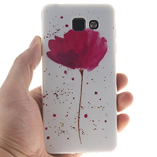 Samsung Galaxy A3(2016) A310 hülle MCHSHOP Ultra Slim Skin Gel TPU hülle weiche Silicone Silikon Schutzhülle Case für Samsung Galaxy A3(2016) A310 - 1 Kostenlose Stylus (Black Lion) Violet Yolanda Flower