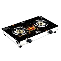 Apex Double burner Designer Gas Stove with glass Top(Spectra 3)