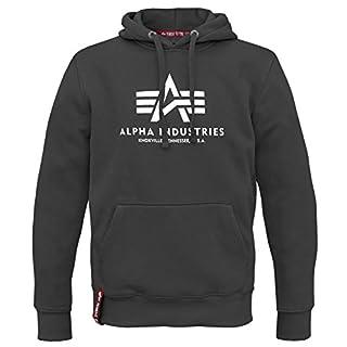 Alpha Ind. Basic Hoody Pullover schwarz - L