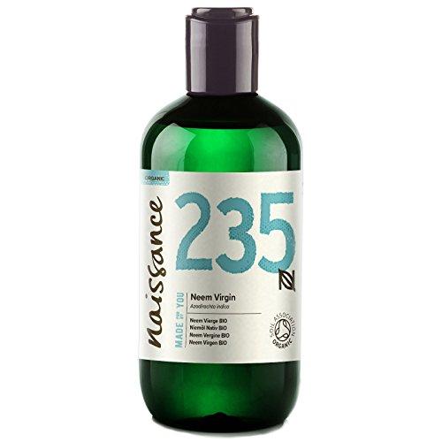 Naissance olio di Neem Vergine Certificato Biologico pressato a freddo 250ml -...