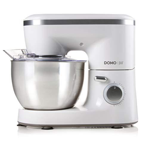 Domo DO9175KR Küchenmaschine, Edelstahl, Silber, Weiß