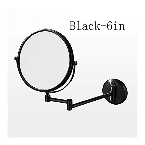 QWET Espejo de Maquillaje montado en la Pared con 3 aumentos, Espejos de Doble Cara de Altura Ajustable...