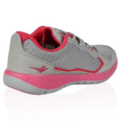 Gola Palm Donna Classiche Stringate Per Corsa Sneakers Rosa/Grigio