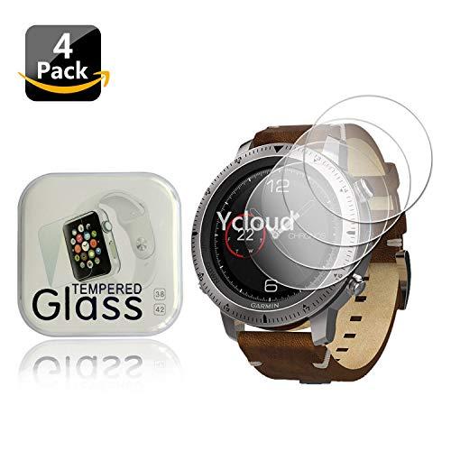 Ycloud [4 Stück Panzerglas Folie Schutzfolie Bildschirmschutzfolie für Garmin Fenix Chronos Smartwatch mit Härtegrad 9H, 0,26mm Ultra-Dünn, Abger&ete Kanten