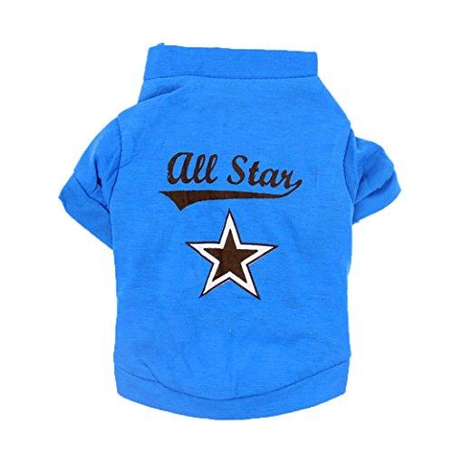 artistic9(TM) Kleine Größe Hund Cat T-Shirt Pet Puppy Blau Kleidung Bekleidung (Fleece-weste Bulldog)