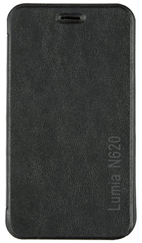 iCandy™ Synthetic Leather Flip Cover For Nokia Lumia 620 - BLACK  available at amazon for Rs.170