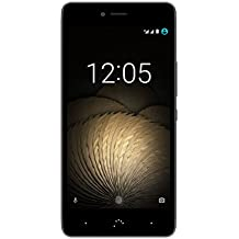 BQ Aquaris U Plus - Smartphone de 5'' (WiFi, Bluetooth 4.2, Qualcomm Snapdragon 430 Octa Core, 16 GB de memoria interna, 2 GB de RAM, cámara de 16 MP, Android 6.0.1 Marshmallow) negro y gris antracita