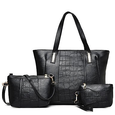 La donna pu outdoor casual Tote,Nero Black