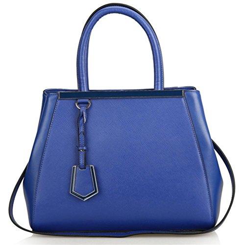 modello Yanx Signora della traversa di modo borsa delle signore spalla Tote Bag (38 * 28 * 16cm) , blue